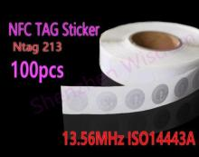 100pcs NFC Stickers Ntag213 RFID Tag 13.56MHz ISO14443A NFC Sticker for all NFC phones(China)