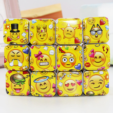 New Arrival 4*4*7Cm Tin Box Baby Face Yellow Mac Makeup Lipstick Box 12Piece/Lot Small Metal Jewelry Tea Candy Container