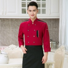 Long-sleeved Cooks Kitchen Uniform Chef Uniforms Uk Clothing Female Restaurant Chefs Apparel Adult Chefwear Plus Size B-5699