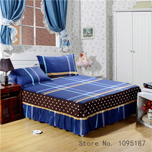 Home Textile bed sheet set (bedskirt +pillowcase) 100% cotton bedspread sleeping cover dust ruffle bed cover twin queen king 3pc(China)
