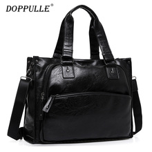 Cowhide DOPPULLE Brand Fashion Mens leather Travel Bags Waterproof Vintage men messenger bags high quality shoulder bags(China)