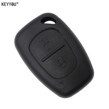 KEYYOU Remote Key Case 2 Button For Renault Opel Vauxhall for Nissan Vivaro Traffic Primastar