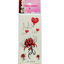 Flowers Waterproof Temporary Tattoo Stickers for Adults Kids Body Art Fresh 1pcs(China)