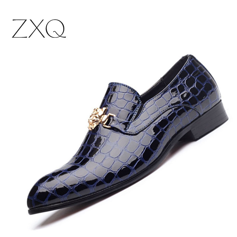 NEW Arrival Luxury Men Dress Shoes Pointed Toe Classic Wedding Oxford Leather Men Shoes Plus Size 38-48 <br>