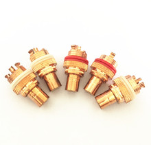 4pcs high quality CMC red copper plated RCA Socket audio rca jack RCA terminals Amplifier Copper RCA socket Plug