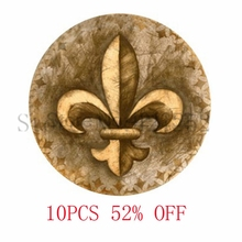 Fleur De Lis Bronze. Lily Flower Pendant. Charms Art. picture Pendant Jewelry necklace keyring bookmark cufflink  earring