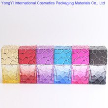 BP-4 (50pcs/lot) 30ML Water Cube Design Empty Perfume Bottles Atomizer Spray Glass Refillable Bottle Spray Scent Case