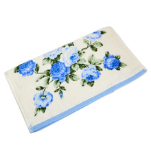 Ouneed  34*75cm Soft Cotton Face Flower Towel Bamboo Fiber Quick Dry Towels *30 2017 hot sale
