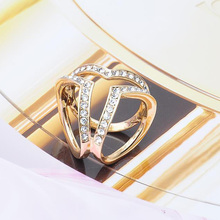 Hot Sale 1Piece Brooch Gold Color Crystal Material Scraf Buckle Brooch Decoration Jewelry Gift For Women