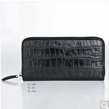 weitasi Real Crocodile man purse men clutch bag belly belly overall no stitching high-end luxury send people black(China)
