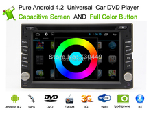 Free Shipping Android 4.2 Car DVD Player+Stereo+GPS Navigation+Bluetooth+Steering wheel control+USB support over 1T, HOT SELL