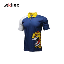 Akilex Men Comfortable Sublimation printing Striped Prints Casual Sport Polo Shirt