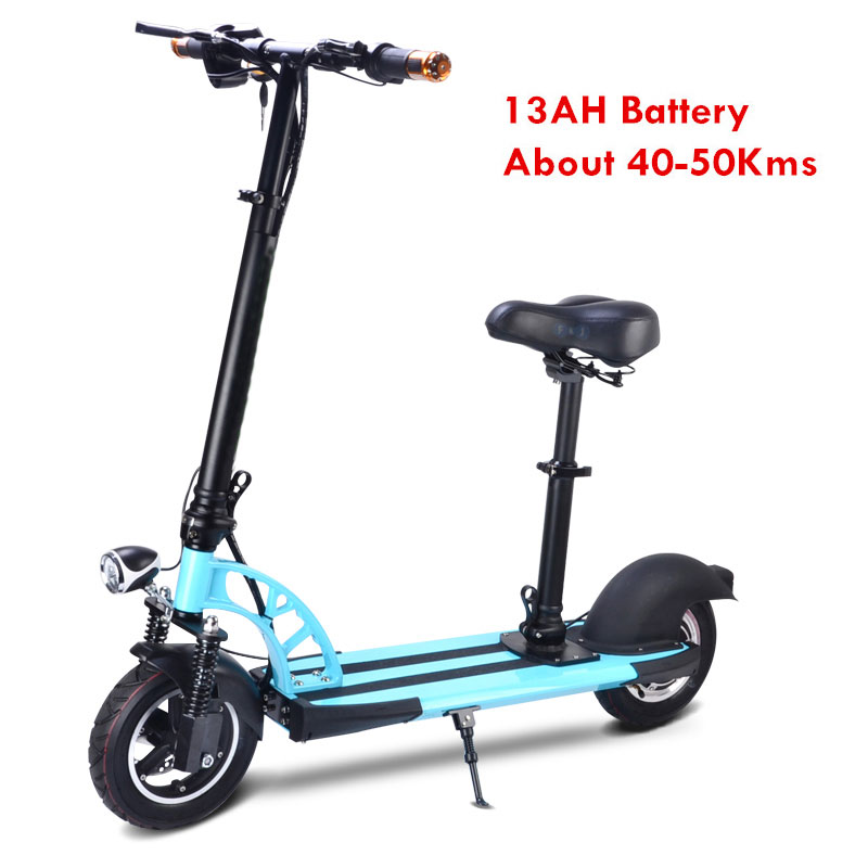 FLJ 10 inch wheels Foldable Electric Scooter 500W 35Km/h folding Bike electric bicycle Scooters foldable Seat  -  Hoverboard Store store