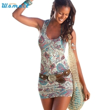 2017 Summer Dress Women Casual Sexy Beach Mini Dresses Sleevless Sundress Female vestidos S- XL Amazing