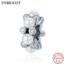Buy INBEAUT Women Fashion DIY Charms Hot Sale 925 Sterling Silver Pearls Cubic Zirconia Stack Beads Charm fit Pandora Bracelet for $8.58 in AliExpress store