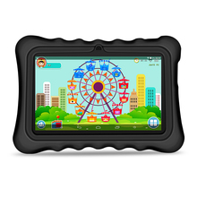 "Yuntab 7"" Q88H Android4.4 Tablet PC load Iwawa kid software 3D-Game bluetooth Educational Game Apps with Chic stand Case(black)"