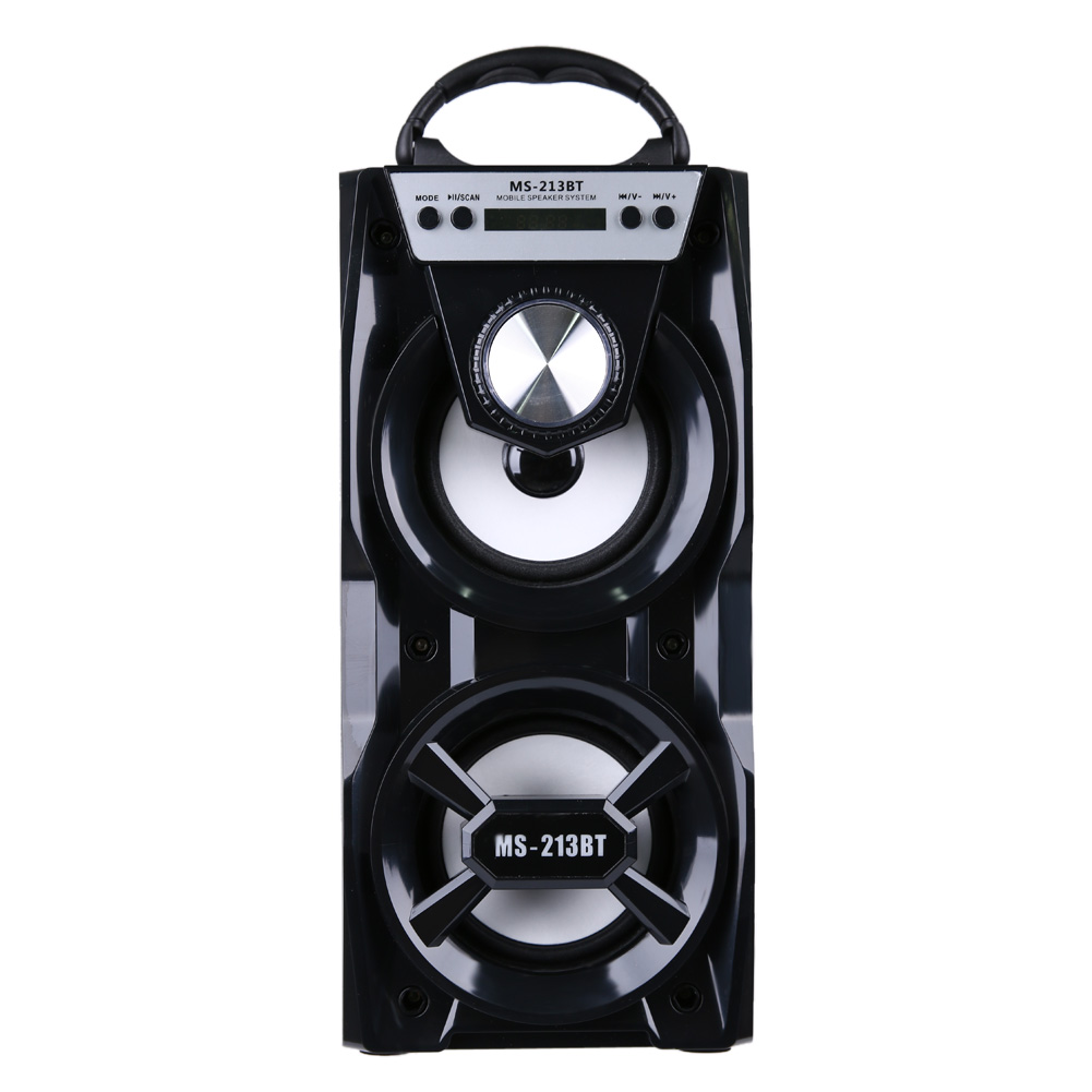 MS-213BT Bluetooth Dual Speaker Portable Indoor Outdoor Wireless Speakers with USB/TF/AUX/FM Radio Function<br>