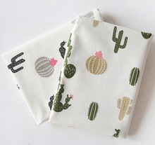 Off-White Background  cactus cotton and linen cloth Table cloth curtain sofa  linen fabric