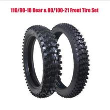 110/90-18 Rear Tyre 80/100-21 Front Tire +Inner Tube Trail Dirt Bike Motorcycle(China)
