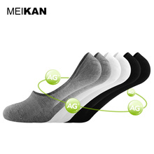 MEIKAN 6Pairs/lot Women Invisible Socks Black Summer No Show Meias Mesh Breathable Men Socks Loafer Low Cut Boat Sport Socks