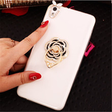 New 3D swan Love bling Crystal diamond Stand Cell Phone Shell back Skin cover hard case For HTC Desire 626 Case(China)