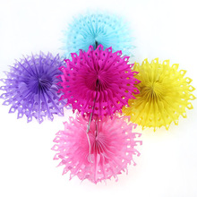 "5PCS 10""(25cm)  12 Colors Hollow Paper Folding Fans For Wedding Decoration Party&Home Hanging Decorative Supplies"