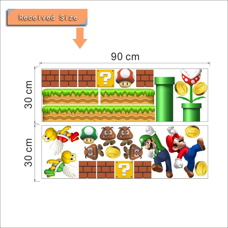 HTB1FLdHRpXXXXciaXXXq6xXFXXXt Super Mario Bros Kids Removable Wall Sticker Decals Nursery Home Decor Vinyl Mural for Boy Bedroom Living Room Mural Art