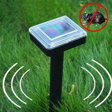 400HZ-1000HZ Outdoor Garden Solar Power Mole Repeller Sonic Wave Mouse Repellent with Solar Li battery 1.2V 60mA(China)