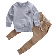 2pcs Newborn Infant Baby Kids Autumn/winter Outfits Babies Boys Girls Kids Anchor  T-shirt Tops+Pants Outfit Sets Clothing