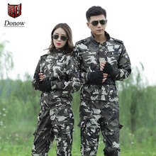 Military suit Breathable Army camouflage Tactical Outdoor Hunting Fishing Mountaineering Wear resistant Hiking Training suit
