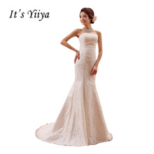 Free shipping 2015 new bridal wedding dress pure white mermaid Vestidos De Novia lace fashion wedding gown XXN006(China)