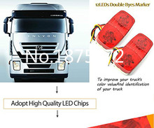 new 2X LED Side Marker Light Clearance Lamp 12V 24V Car Truck Trailer Caravan Red Free shipping