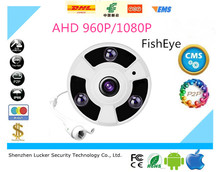 Luckertech Secure 1.3MP 2MP Panoramic Camera FishEye Lens 360 Degree View 960P 1080P AHD Camera IR 30m Surveillance Camera Metal