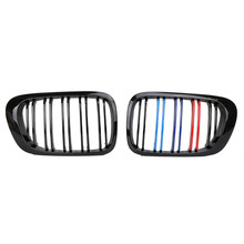 Car Grill for BMW E46 2 Door 3 Series 1998-2001 Coupe M3 black M-color  Front Kidney Grille Double Line Grills Grill /5