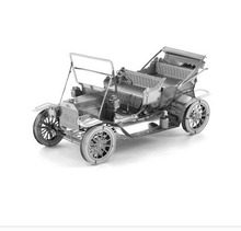 Tobyfancy 3D Metal DIY Model Ford T Classic Car Stainless Building Educational Puzzle Kits Gifts Decoration For Adults
