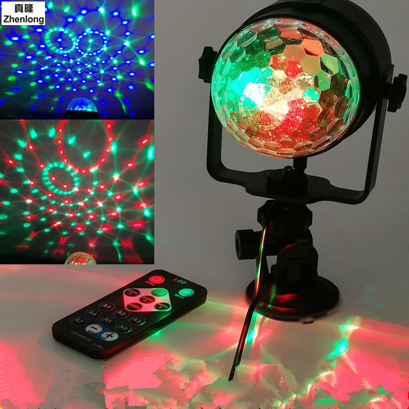LED Stage Lights Outdoor Charging  Crystal Magic Lamp USB Sound Colorful Lights Rotating Light Family Exhibition Lighting Lamp<br>