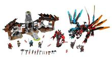 1173pcs Ninja New 10584 Dragon's Forge DIY Model Building Kit Blocks Gifts Toys Compatible with Lepin