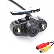 LED Night Vision Car rear view camera Car parking backup camera HD color night vision such solaris car reversing camera(China)