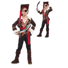 captain jack sparrow pirate costume cosplay halloween costume for kids fancy dress carnival costumes for children boys(China)