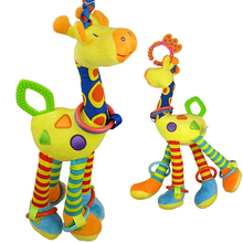 2017 New 39cm Giraffe Activity Spiral baby bed pram hanging toys baby stroller toy infant gifts plush product Free shipping