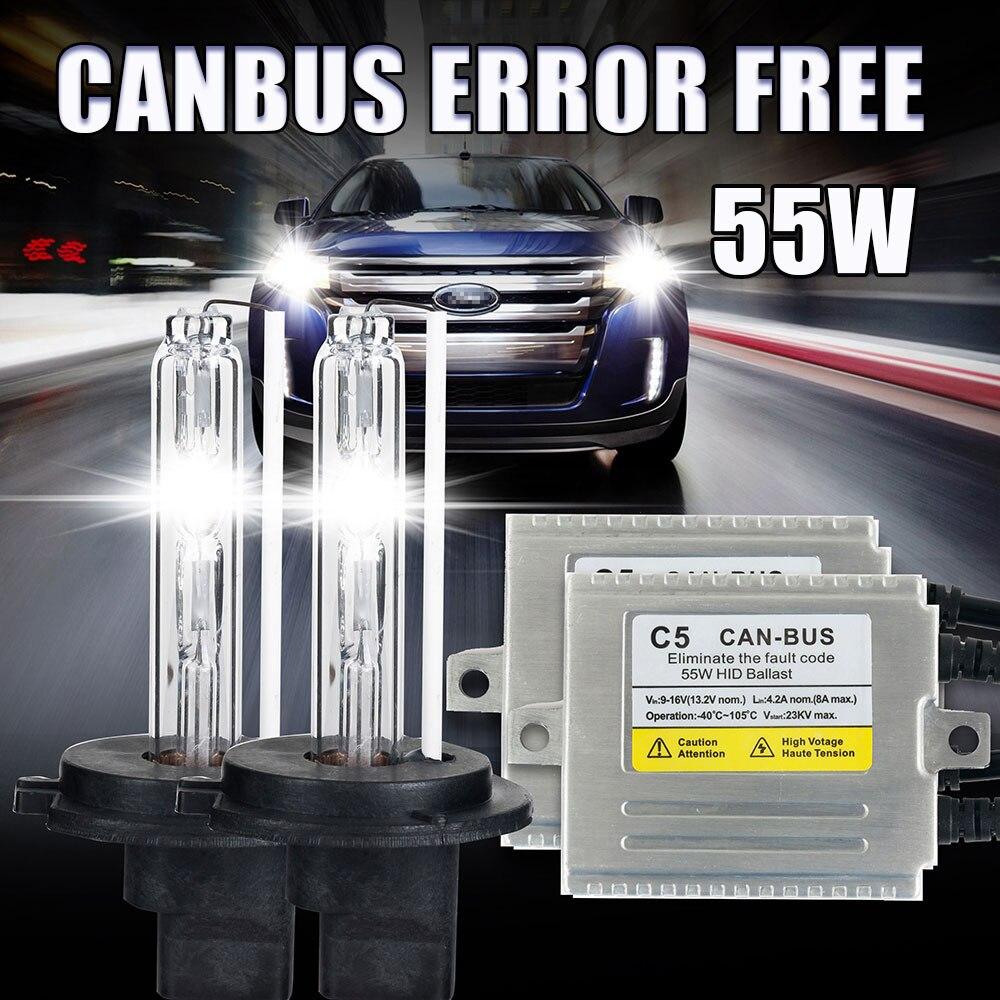 2016 Hid kit 12V 55W AC xenon canbus HID conversion Kit C5  55W H3 bulb lights 4300K 6000K 8000K slim ballast fast start<br><br>Aliexpress