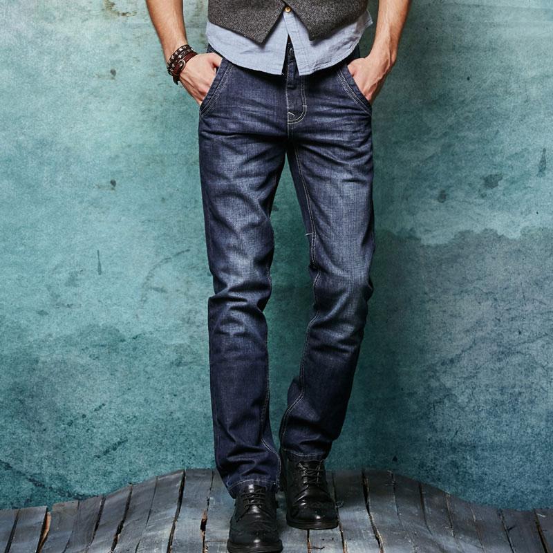 2017 New Locomotive Jeans Men Slim Straight Denim Jeans Cowboy Fashion Business Designer Famous Brand Mens Pant 29-36Одежда и ак�е��уары<br><br><br>Aliexpress