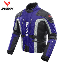 DUHAN Windproof Motorcycle Jacket Cold-proof Moto Jacket Protective Gear Armor Men's Autumn Winter Motorbike Touring Clothing(China)