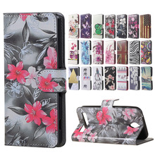 Red Flower Magnetic PU leather Wallet Handbag Book Cover Case sFor Flip Asus Zenfone Go  ZC451TG 4.5 INCH Moblie Phone cases bag