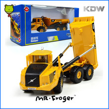 Mr.Froger KDW Dumper Model Refined Metal Engineering Construction Vehicles Truck Decoration Classic Toy Gifts Yellow Alloy Car