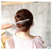 Simple Hair Clips Leaf Hairpins Wave Hairgrips Large Hair Clamp Korean Hair Accessories Fascinator for Women Black/Brown HC298