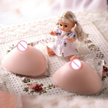 free shipping , cheap silicone breast forms big boobs in sexy evening dress 500g A cup for women and shemale(China)