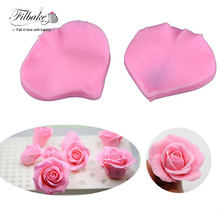 FILBAKE Hot Rose Flower Petals DIY Veiner Fondant Chocolate Soap Decorating Tools Icing Silicone Candy Mold,Non Stick Sugar