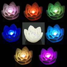Romantic 7-Color Changing Lotus Flower LED Party Light Night Lamp New 2017