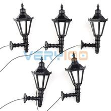 1:25 Model Led Lamppost Lamps Wall Lights Train Railway Scale Modal Layout 3V 5pcs Per Lot(China)